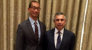 Kim Chin, managing partner of McChin Healthcare Solutions, with H.E. Ashok Mirpuri, Singapore's Ambassador to the United States